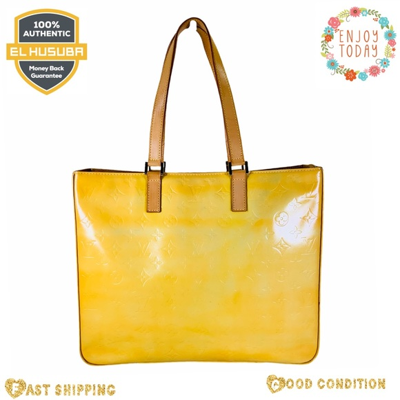 Louis Vuitton shoulder bag Columbus yellow vernis